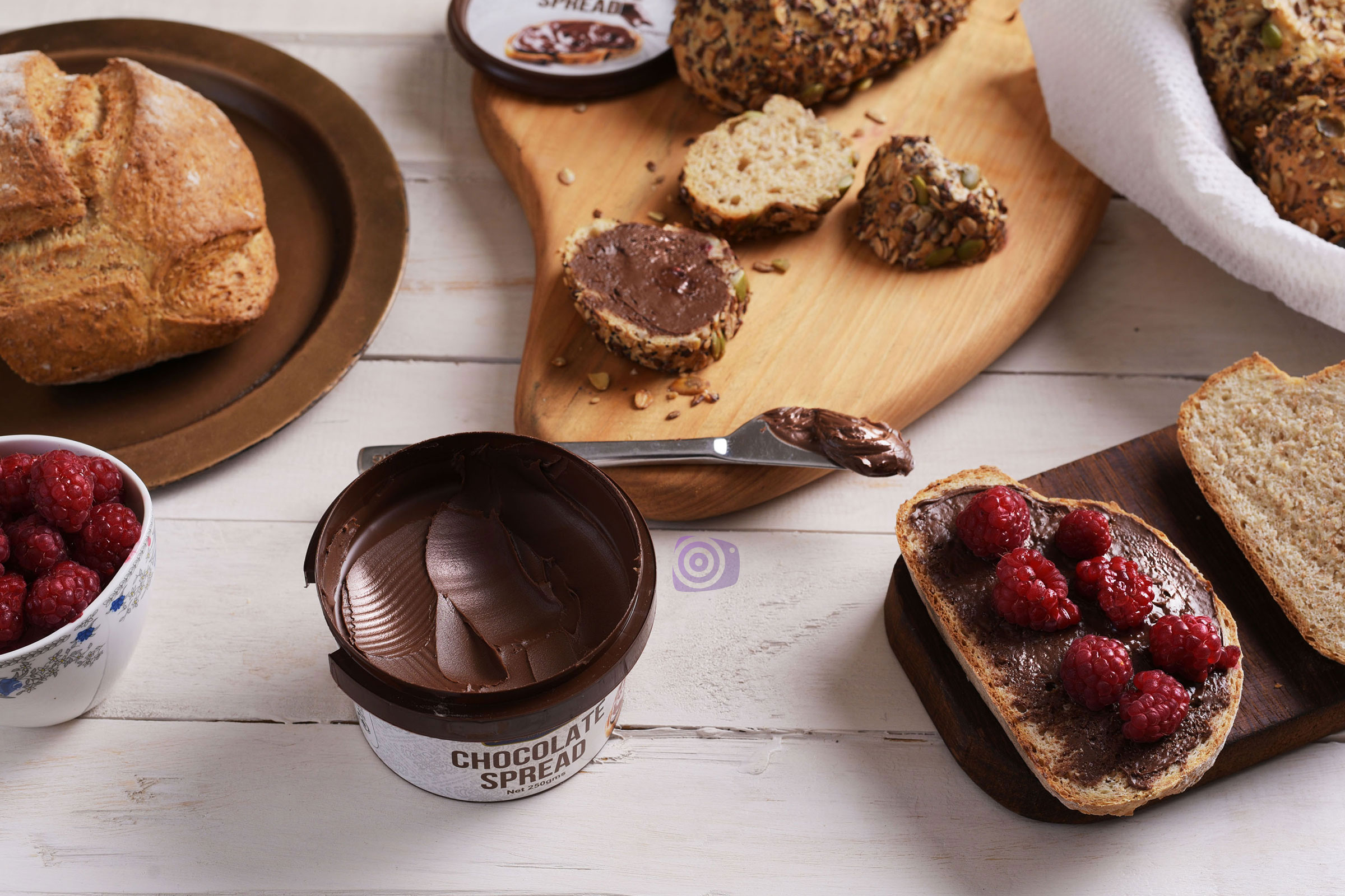 Product photography of Dairyland Chocolate spread